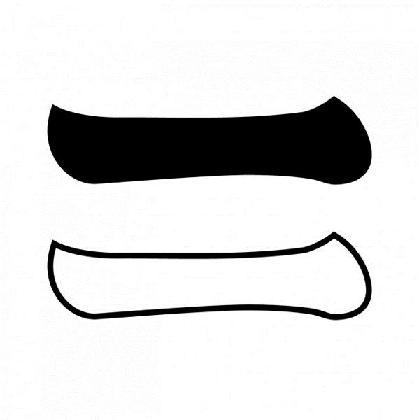 白黒一文字紋